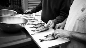 pescado limpio y fileteado