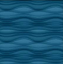dibujo del mar denso